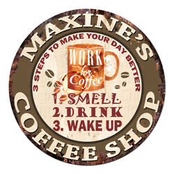 Cwcs-0254 Maxine's Coffee Shop Tin Sign Birthday Mother's Day Gift Ideas