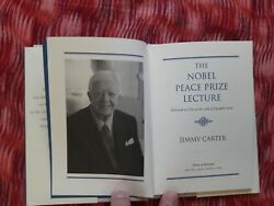 Signed autographed Jimmy Carter The Noble Peace Prize Lecture. Blood of Abraham.