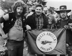 Hells Angels Motorcycle Oakland California 60and039s Glossy 8x10 Photo
