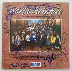 We Are The World Signed Vinyl Record Bruce Springsteen Billy Joel And 13 More