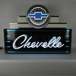 Chevrolet Chevelle Art Deco Marquee Mancave Light Neon Sign In Metal Can 39x28