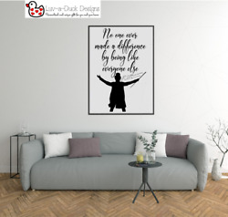 Greatest Showman Barnum No One Ever Made A Difference Wall Sticker Quote Vinyl