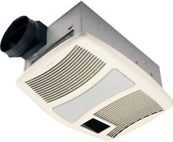 Ceiling Mounted Exhaust Bathroom Fan 110 CFM Heater Light Night light Very Quiet