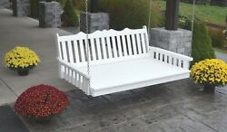 Outdoor 75 Royal English Swing Bed - Multiple Colors - Amish Made In The Usa