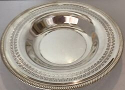 Silver Plate Wm Rogers Bowl Round Serving 12 Pattern-835 W/ Makers Marks