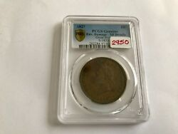 1827 Great Britain Penny Pcgs Xf Details Env. Damage