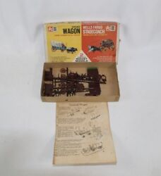 Vintage 1962 Itc Ideal Toy Midget Models Covered Wagon And Wells Fargo Stagecoach