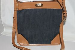 MICHAEL Michael Kors Signature Sullivan Large North South Messenger Bag-DK Denim