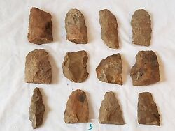 Lot Authentic Indian Arrowheads Artifacts Broken Scrapers Knives Tools Spears -3