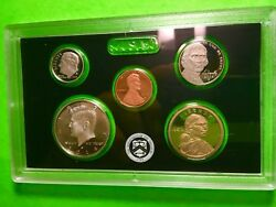 2014 S Partial Proof Set Kennedy Dime Nickel Cent 90 Silver Us Mint 5 Coins