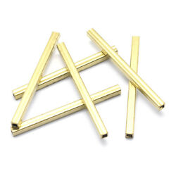 200pcs Unplated Brass Straight Tube Metal Beads Extra Long Loose Spacers 2 Inch