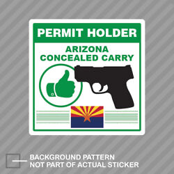 Arizona Concealed Carry Permit Holder Sticker Decal Vinyl 2a Permited V2