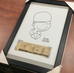 Mort Walker Beatle Bailey Original Sketch Drawing And 1958 Comic Clipping Signed