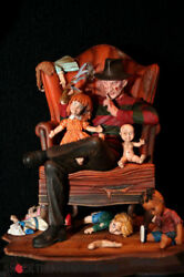 Extremely Rare Nightmare On Elm Street Freddy Krueger In Chair Le 1500 Statue