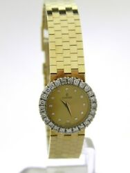 Ladies 14k Concord Diamond Bezel Manual Wind Watch