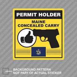 Maine Concealed Carry Permit Holder Sticker Decal Vinyl 2a Permited
