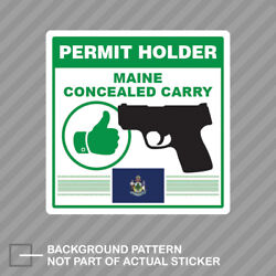 Maine Concealed Carry Permit Holder Sticker Decal Vinyl 2a Permited V2