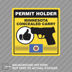 Minnesota Concealed Carry Permit Holder Sticker Decal Vinyl 2a Permited