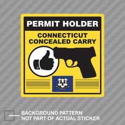Connecticut Concealed Carry Permit Holder Sticker Decal Vinyl 2a Permited