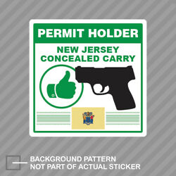 New Jersey Concealed Carry Permit Holder Sticker Decal Vinyl 2a Permited V2
