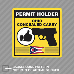 Ohio Concealed Carry Permit Holder Sticker Decal Vinyl 2a Permited
