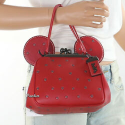 NWT Coach x  Disney 1941 Minnie Mouse Kisslock Bag 29188 Red Sold Out RARE