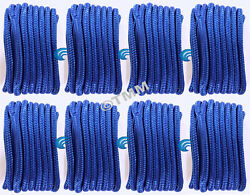 8 Blue Double Braided 1/2 X 20' Hq Boat Marine Dock Lines Mooring Ropes Cords
