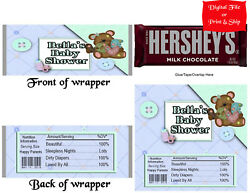 20 Personalized Baby Shower Printed Candy Bar Wrappers W/foil Or Digital File