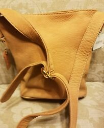 COACH BUCKET BAG PURSE NEW LEATHER SLOUCH CROSSBODY SHOULDER STRAP