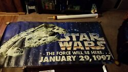 Star Wars Trilogy Special Edition Vhs January 1997 Toys'r'us Vinyl Banner 95x48