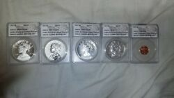2017-s Ms70s 225th Anniversary Celebration Set Anacs Certified All Perfect 70