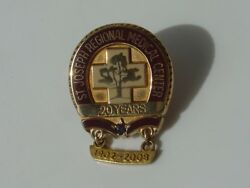 20 Years Gold Filled Service Pin St Joseph Medical Center Hospital Lewiston Id
