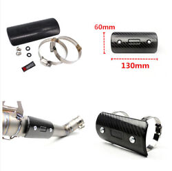 Motorcycle Exhaust Middle Link Muffler Pipe Heat Shield Cover+Mount Accessories