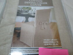 New Cotton Dining Chair Cover Fits Most Armless Dandigravening Chair Neutral Nip