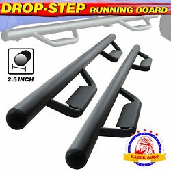 For 05-21 Toyota Tacoma Double Cab 3 Running Boards Side Step Nerf Bar Hoop