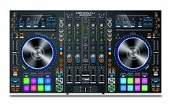 Denon DJ 4 deck DJ controller 2 units USB audio interface Built-in Serato DJ wit