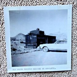Vintage Real Photograph Railroad Union Pacific Caboose Rhyolite Nv 1965