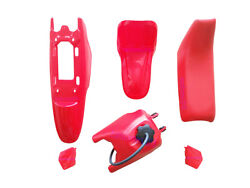 Yamaha Pw50 Py50 Plastic Fender + Seat + Fuel Tank Motorcycle Parts Red 1 Set