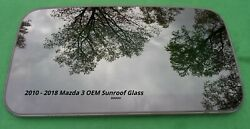 2010 - 2018 Mazda 3 Oem Factory Sunroof Glass Panel No Accident Free Shipping