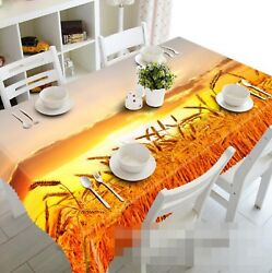 3d Gold Wheat 056 Tablecloth Table Cover Cloth Birthday Party Event Aj Lemon