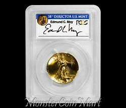 2009 $20 Ultra High Relief PCGS MS70PL - EDMUND C. MOY HAND-SIGNED LABEL!!