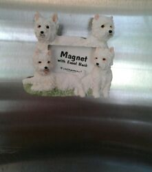 WHITE Scottish TERRIER MAGNETIC OR PICTURE FRAME