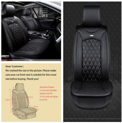 Luxury Black 3D Surround Breathable PU  Leather Car front 2 Seat Covers Cushion
