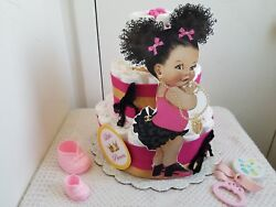 Hot Pink Black And Gold Little Princess Diaper Cake Baby Shower Gift Centerpiece