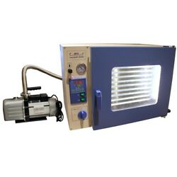 1.9 Cuft Stainless Vacuum Oven - 10 Shelves, Led Lights, Vac Pump And Fittings