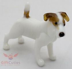 Art Blown Glass Figurine of the Jack Russell Terrier dog