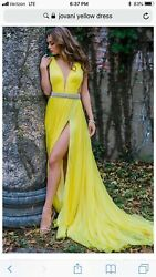 Jovani Couture Custom Gown - Size 10 Canary Yellow 49000andnbsp