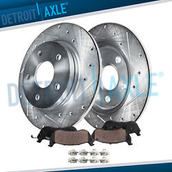 302mm Rear 2013 2014 2015 2016-2018 Ford Fusion Drilled Brake Rotor Ceramic Pads