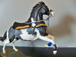 Blue and Gold Gaming Tack for Breyer Traditional Model Horses