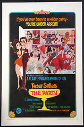 The Party Peter Sellers Birdie Num Num 1968 Rare Style A 1-sheet Linenbacked
